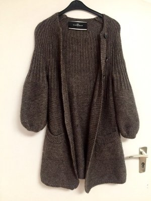 by Malene Birger Knitted Coat grey brown