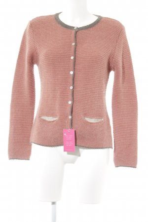 Strickjacke altrosa-dunkelgrau Casual-Look