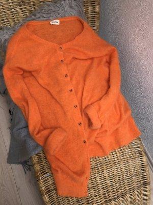 American Vintage Rebeca naranja neón-amarillo pálido lana de angora