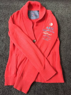 Arqueonautas Knitted Cardigan red