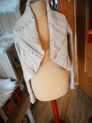 Cardigan beige merino wool