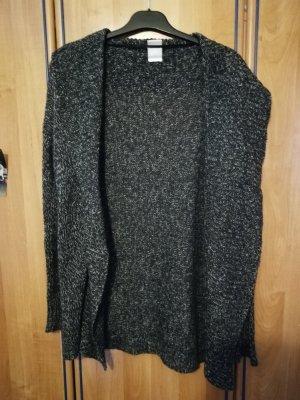 Vero Moda Coarse Knitted Jacket dark grey-white