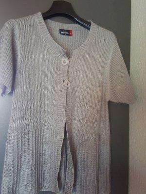 Gina Benotti Short Sleeve Knitted Jacket grey