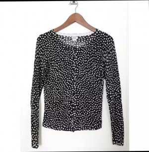 Saint Tropez Knitted Top white-black
