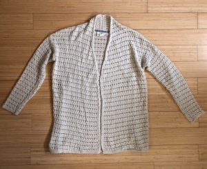 H&M Cardigan all'uncinetto bianco sporco