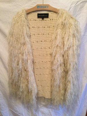Veste tricotée en grosses mailles multicolore laine