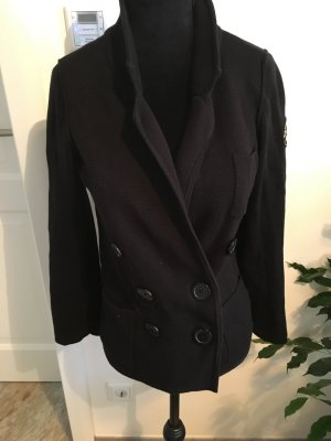 Strickjacke Blazer Marine Style neuwertig von H&M Schwarz Größe 34