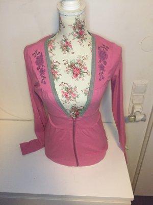 Blutsschwester Gebreid jack roze-bos Groen