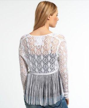 Superdry Knitted Bolero white