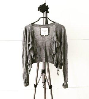 strickjacke / bolero / dancewear / grau / abercrombie & fitch