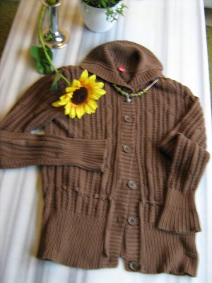 Strickjacke - braun -
