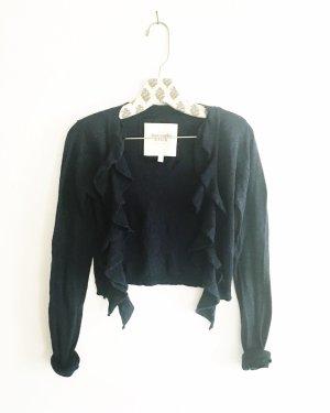 strickjacke / cardigan / abercrombie & fitch / dance wear / bolero / dunkelblau