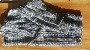Strickjacke Cardigan Baumwolle blau weiß Größe XS Damen