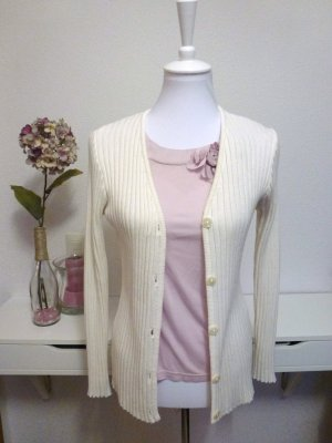 Strickjacke/ Cardigan cremeweiß in Gr. 36