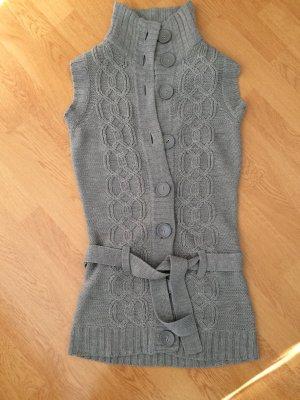 Strickjacke Cardigan grau mit Gürtel S 36 Damen