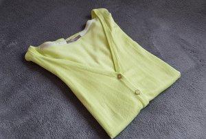 Strickjacke Cardigan Grün Hellgrün Apfelgrün Limette Orsay Gr. 38