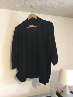 Strickjacke Cardigan Promod schwarz oversized