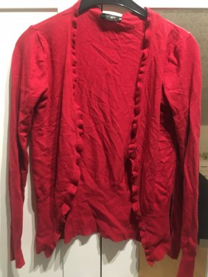 Strickjacke Cardigan rot Gr.38 Gr. M