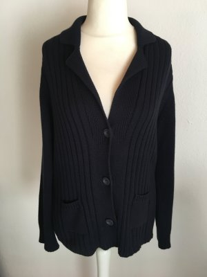 Strickjacke Cardigan warm dunkelblau Strick Gr. 44
