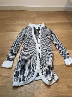 Coarse Knitted Jacket natural white-brown