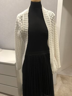 Strickjacke cremeweiss Gr. 36 S wollweiss