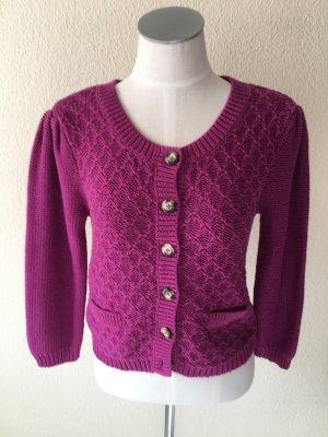 Set Veste tricotée en grosses mailles violet