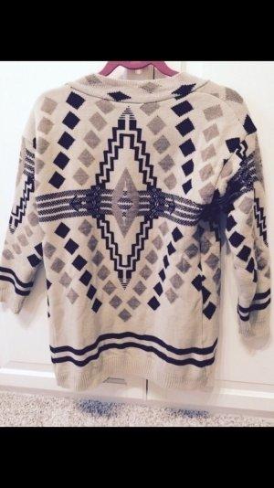 Zara Veste en tricot multicolore