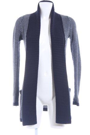 Cardigan dark blue-white casual look