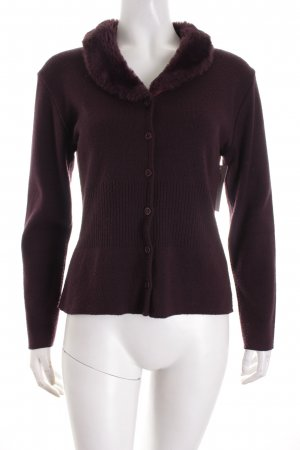 Strickjacke dunkelviolett Casual-Look