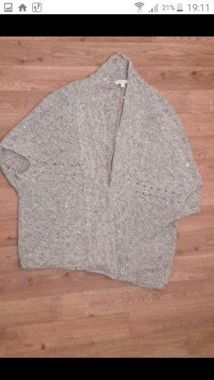 Edc Esprit Short Sleeve Knitted Jacket light grey