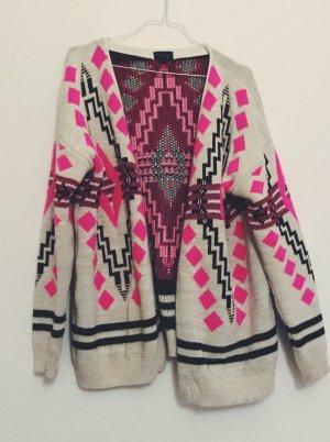 Topshop Veste en tricot multicolore