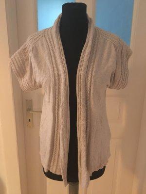Zara Knit Cardigan a maniche corte crema