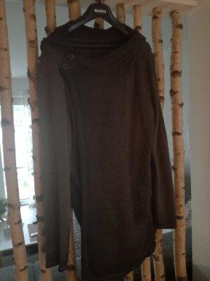 Abrigo de punto gris oscuro-gris antracita