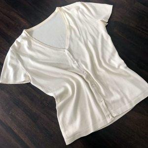 Short Sleeve Sweater pale yellow mixture fibre