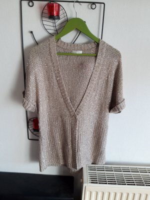 Strickjacke  gold