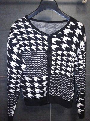 Giacca in maglia bianco-nero