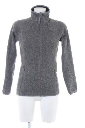 Giacca in maglia grigio stile casual
