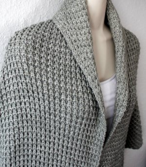 Blend Coarse Knitted Jacket grey mixture fibre