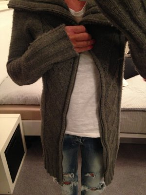 Strickjacke grau Gr. 32/34
