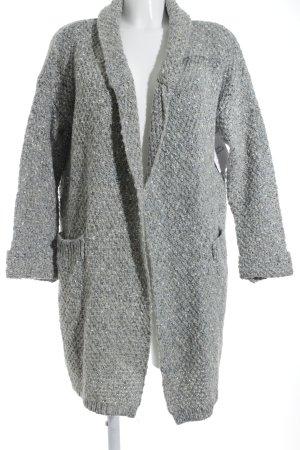 Strickjacke grau-stahlblau Casual-Look
