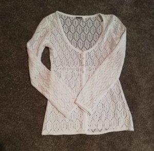 Basic Line Gilet tricoté blanc