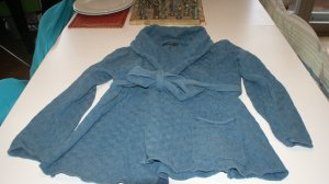 Gudrun Sjöden Wraparound Jacket steel blue cotton