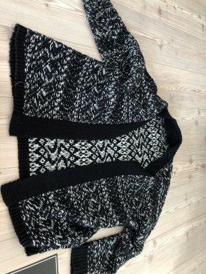 Guess Abrigo de punto negro-blanco