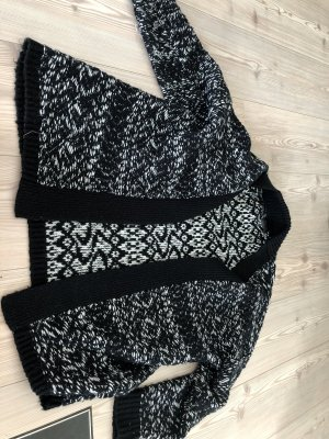 Guess Knitted Coat black-white