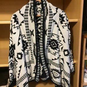 Strickjacke H&M schwarz/weiß