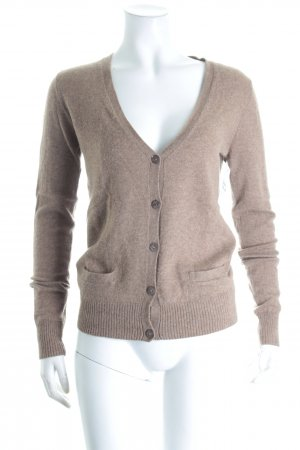 Strickjacke hellbraun Casual-Look