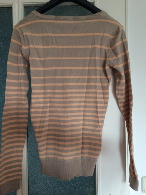 Strickjacke in beige und orange