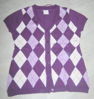 s.Oliver Cárdigan de manga corta violeta oscuro-púrpura