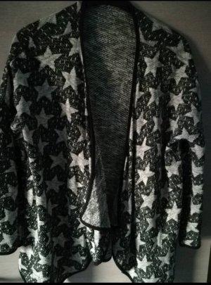 Strickjacke in schwarz /beige mit Sternchen