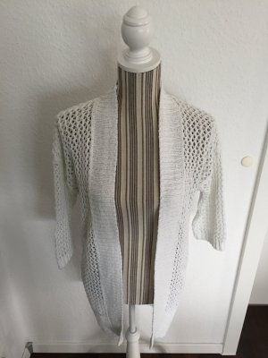 Esprit Short Sleeve Knitted Jacket white